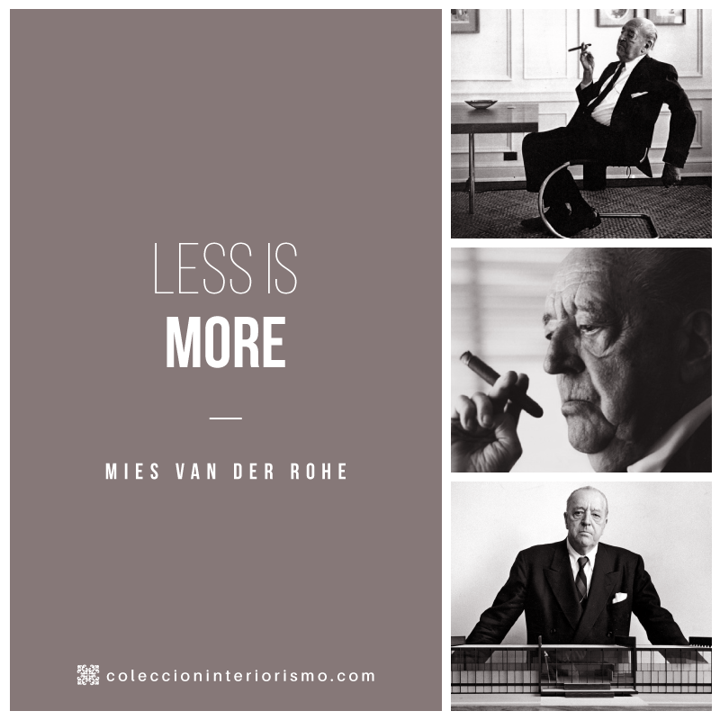 less is more i mies van der rohe i colecci n interiorismo. Black Bedroom Furniture Sets. Home Design Ideas