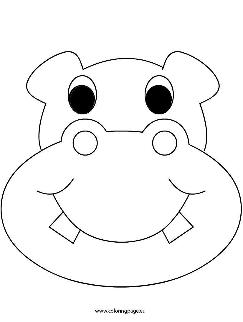 hippo face template - 735×976