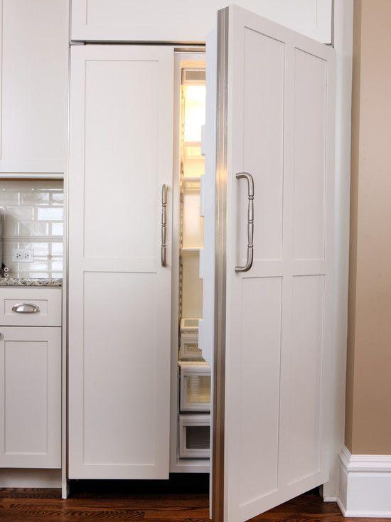 Contemporary Home Design Traditional Kitchen With White Panel Ready Refrigerator 42 Inch Wide Subzero