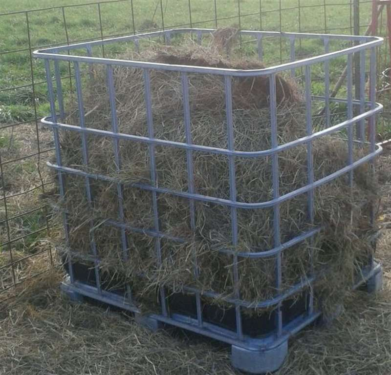 horse product slow hay feeder large system fencing
