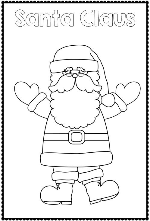Christmas Coloring pages   CHRISTMAS   Pinterest   Kindergarten and ...