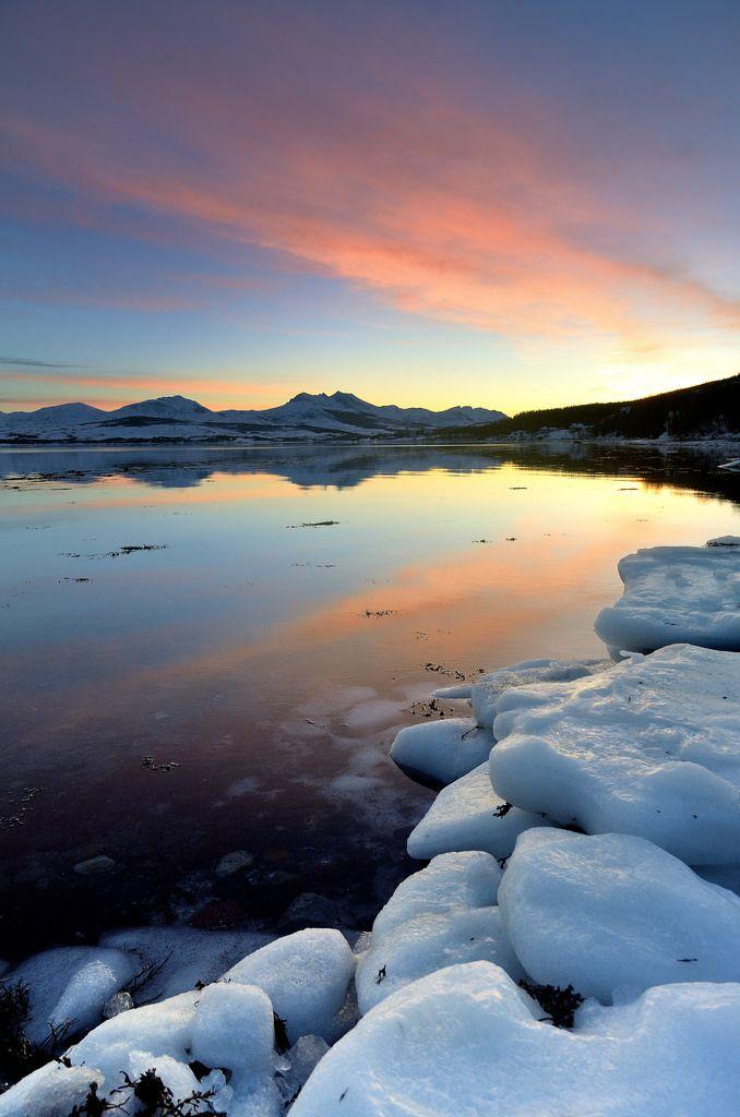 Winter - Sunset - Tromsø, Norway | Scenery pictures ...