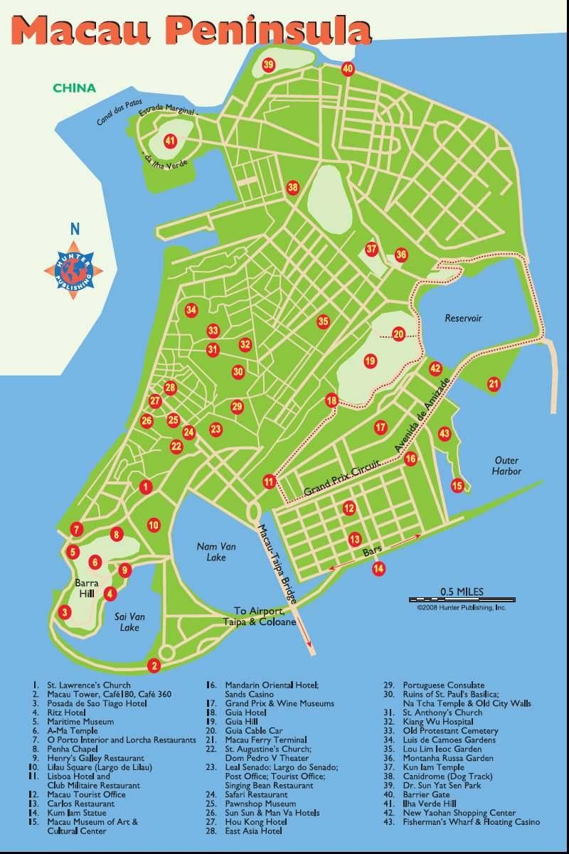 Macau Asia Map
