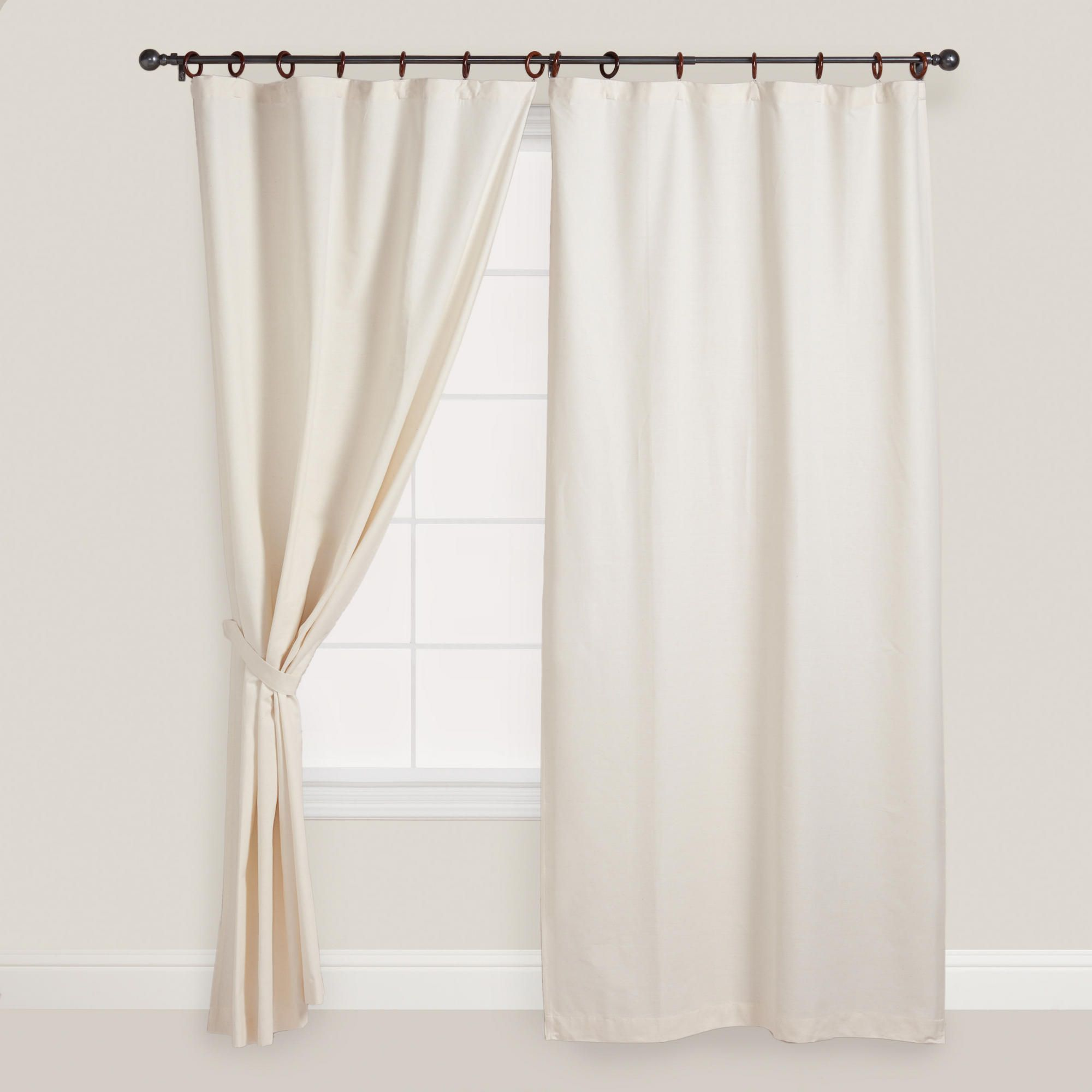 Natural Jaya Canvas Curtain World Market Home Pinterest -> Argollas Para Cortinas Sala