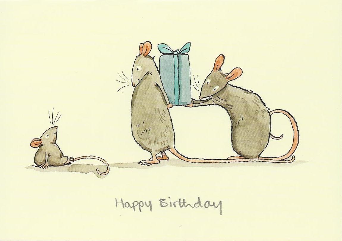 Открытки мышки на день рождения, рисунки