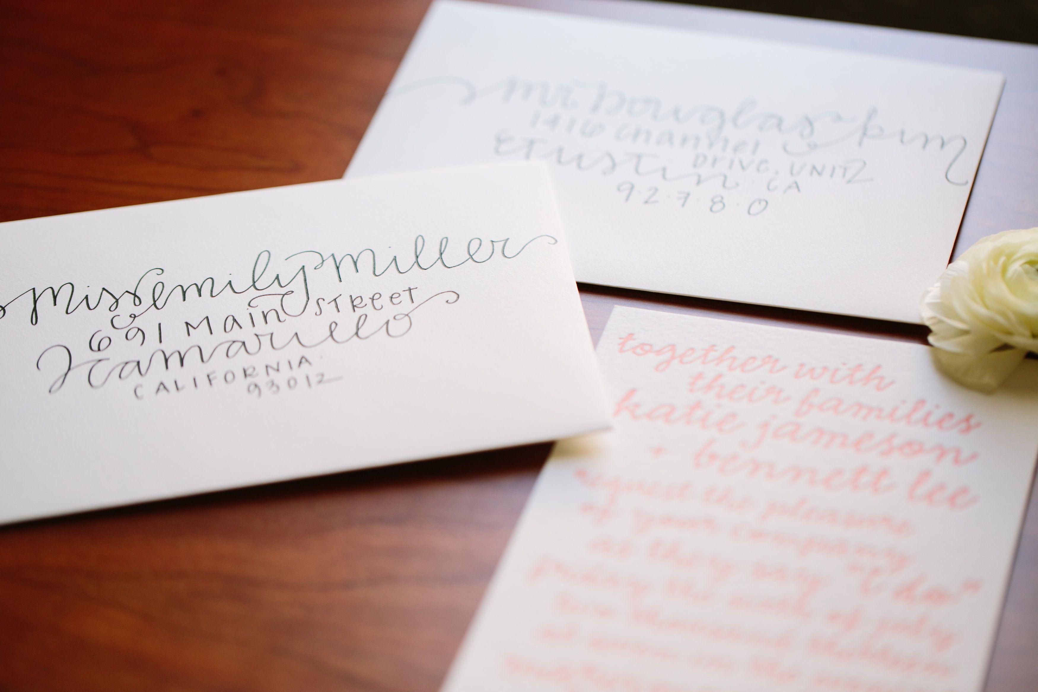 DIY Wedding Envelope Addressing Tips http://driverphoto.pass.us ...