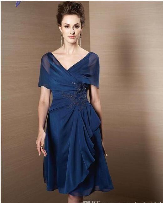 Simple Elegant 2015 Women Summer Wedding Dresses Flowing: Cheap Chiffon Mother Of The Bride Dresses Royal Blue