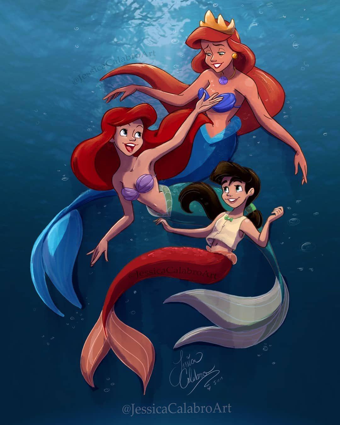 Disneyprincess Mermaid Disney Disney Princess Drawings Disney Movie Art