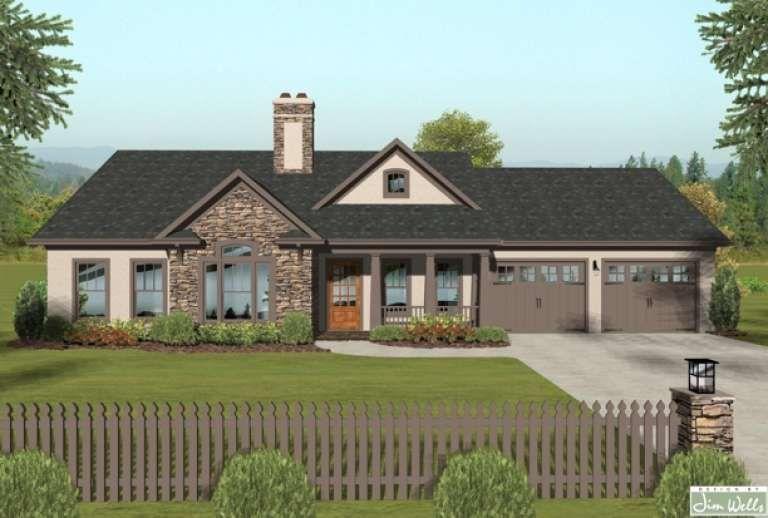 House Plan 036 00176 Craftsman Plan 1 399 Square Feet 3 Bedrooms 2 Bathrooms Basement House Plans Craftsman Style House Plans Ranch House Plan