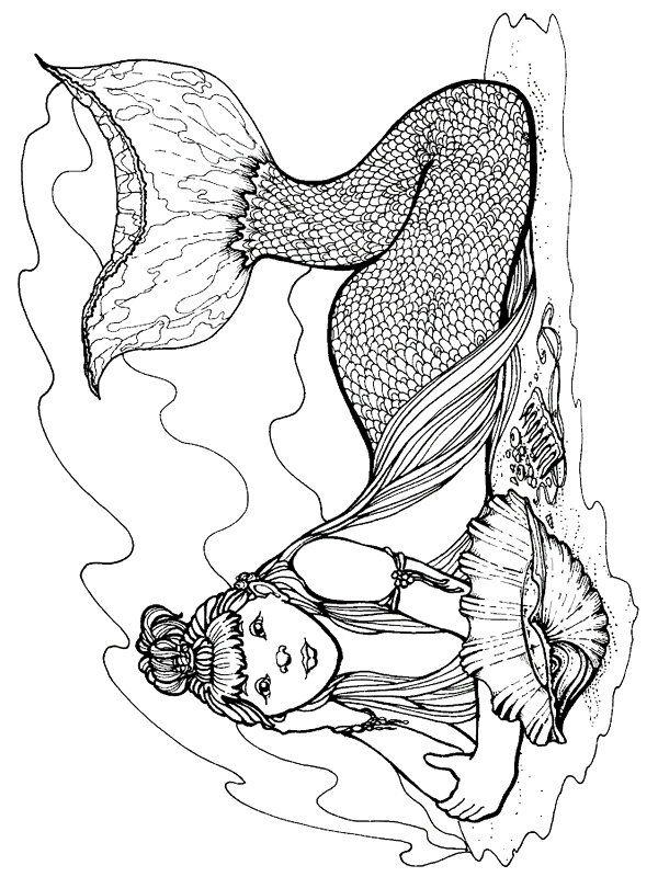 Mermaid Mermaid coloring pages, Coloring pages, Colorful