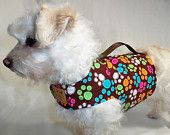 New! RockinDogs Multicolored Paw Prints Spring/Summer dog harness. Available on Etsy.