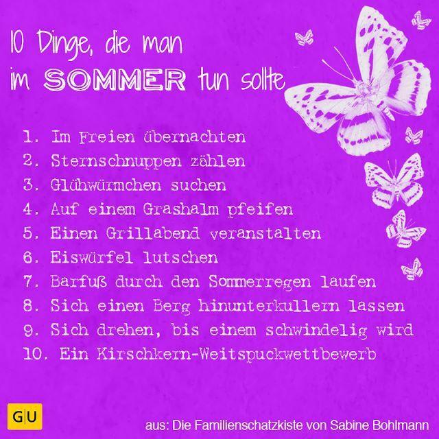 10 Dinge Die Man Nicht Tun Sollte Pin Auf Summer