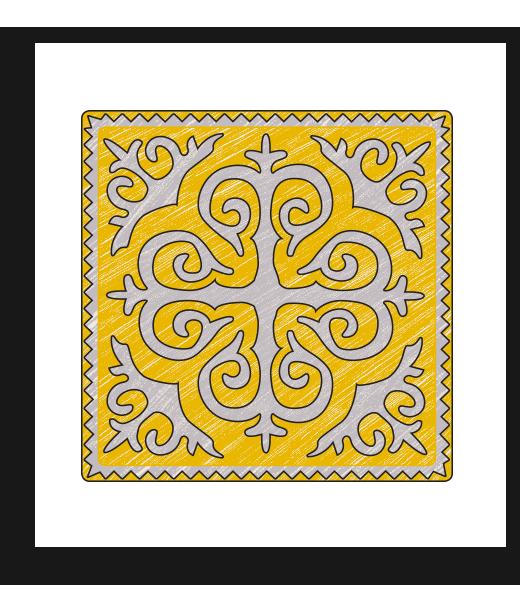 shyrdak | shyrdak unity ochre cream $ 1625 00 felt art known as shyrdak is an ...