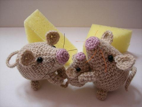 あみぐるみ 図 ねずみ 編み