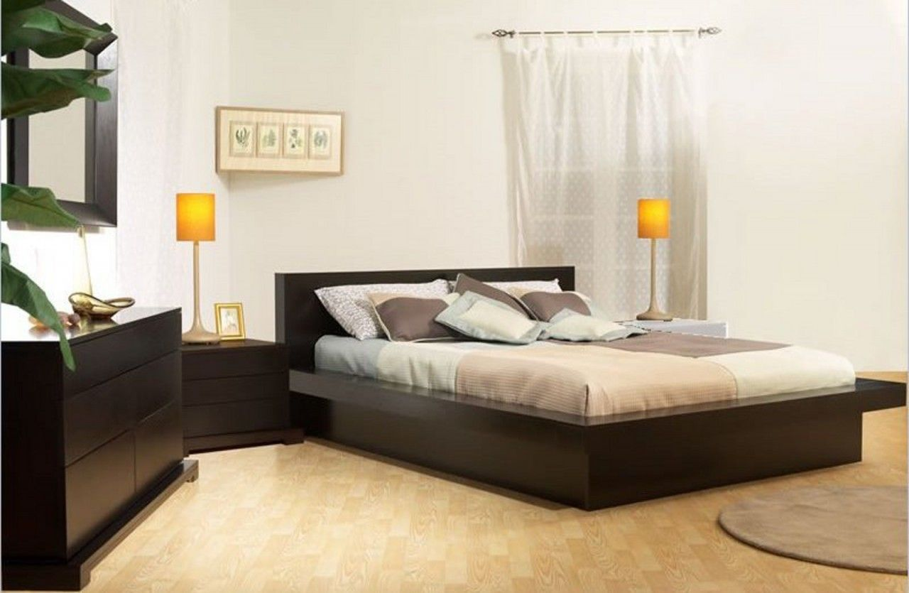 Artwork of Low Profile Platform Bed Frame Displaying Interesting ...
