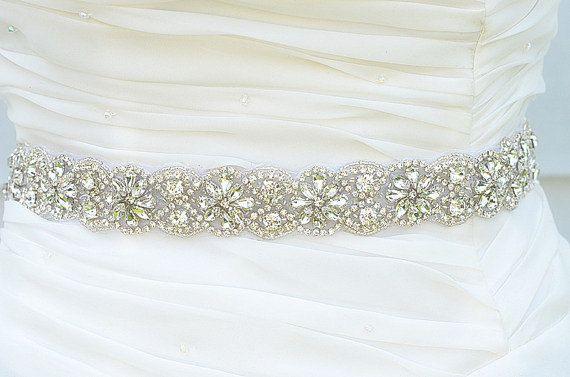 Wedding Belt, Bridal Belt, Sash Belt, Crystal Rhinestones sash belt ...