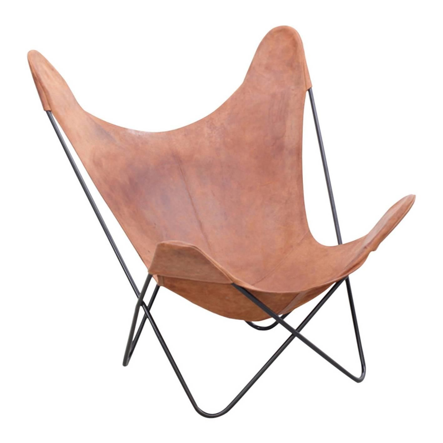 Vintage Hardoy Butterfly Chair in Original Leather