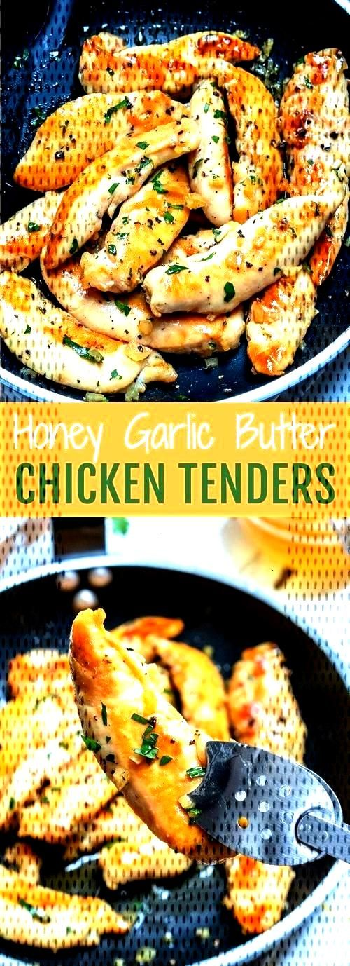 Honey Garlic Butter Chicken Tenders for Clean Eating Meal Prep! | Clean Food CrushYou can find Clea