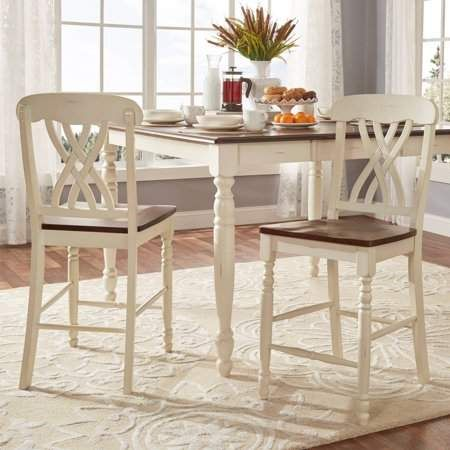 Weston Home Two Tone Counter Height Chair, Set of 2, Antique ...