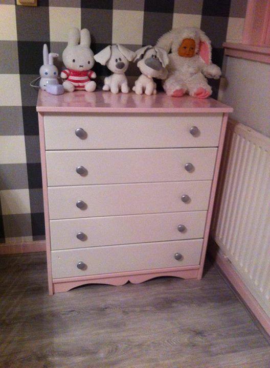 Pink White Girly Dresser Dresser Redo Dresser Home Decor