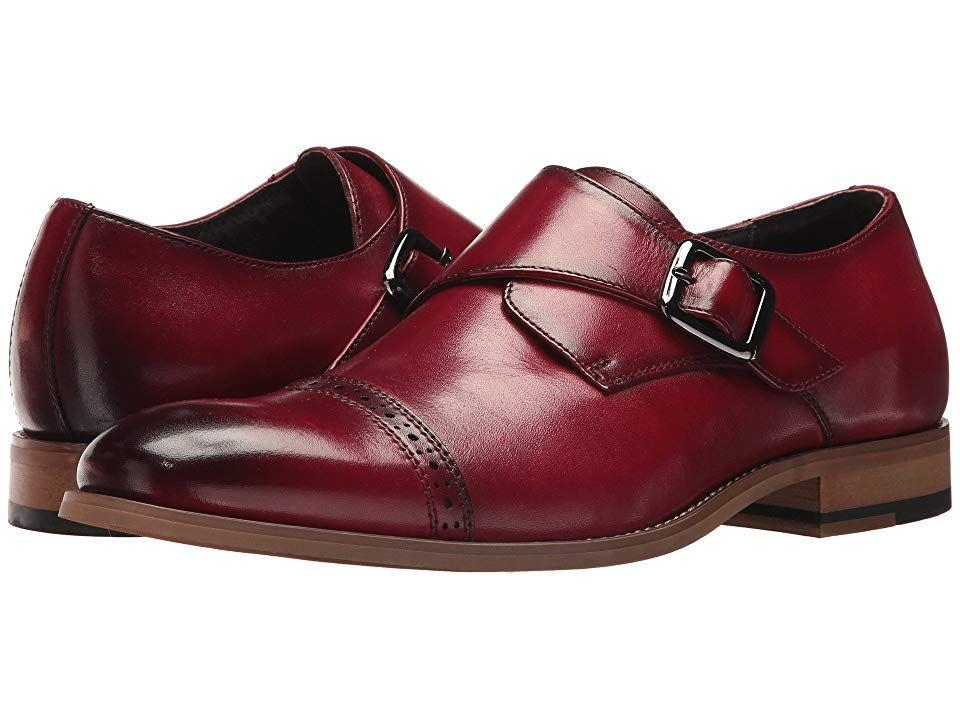 c732001bd2b Stacy Adams Desmond Cap-Toe Monk-Strap Loafer (Cranberry) Men s Shoes.