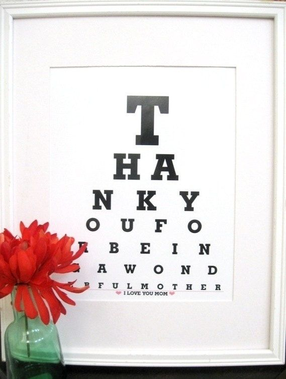 Cute Gift for Mom/Mom Gift/Mother Gift Thank you for by Eyecharts