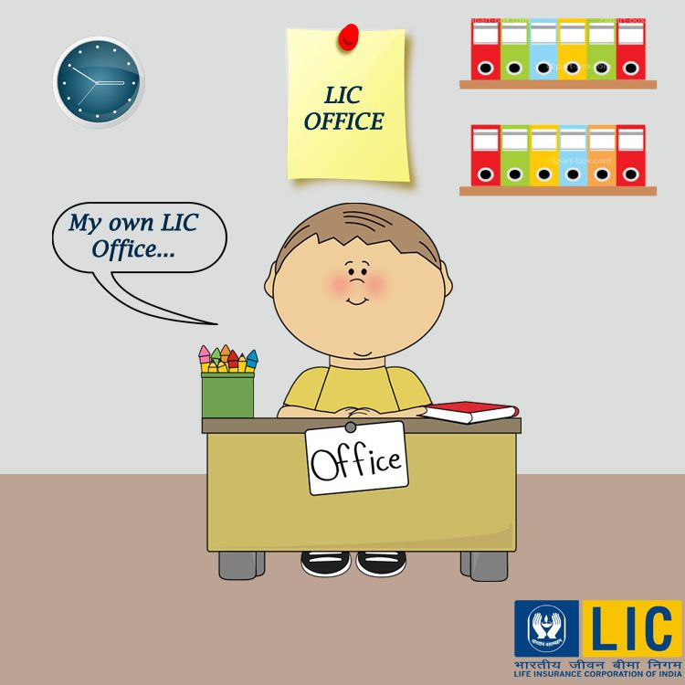 He Is Enjoying His New Office Provided By Lic What About You Family Life Insurance How To Become Investing