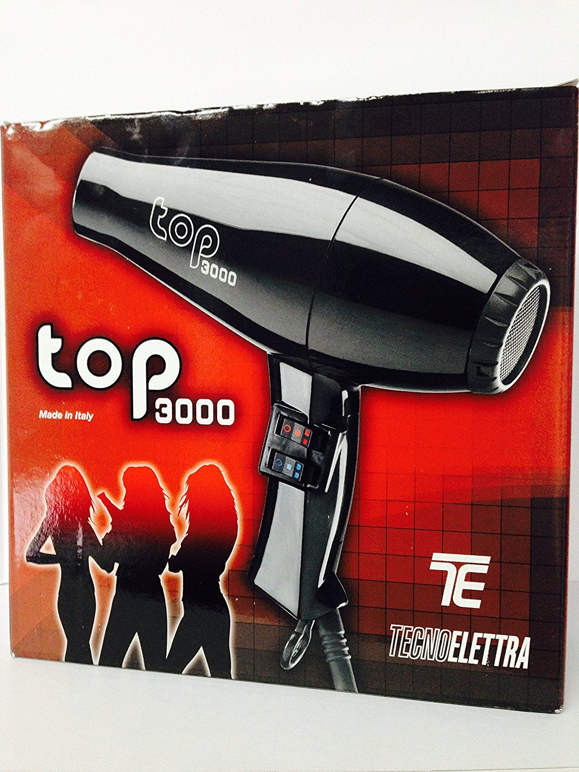 TecnoElettra Blow Dryer (Black) Top 3000 Free Starry Sexy