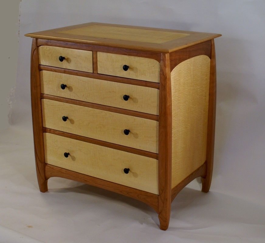 Wood chest Cherry and maple.
