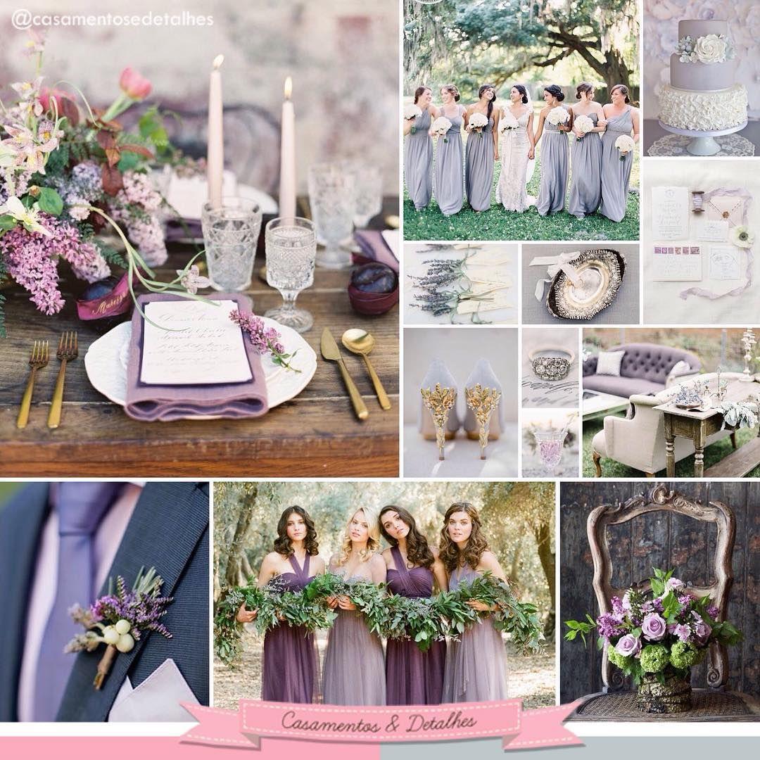Nossa primeira inspiração de 2016, ou melhor, inspirações rsrs' Uma linda grade com a cor Lilac Gray da paleta Pantone 2016 ❤️ Acesse ➡️ www.casamentosedetalhes.com  Caixa Rústica   PAPELARIA CRIATIVA  Acesse ➡️ www.caixarustica.com