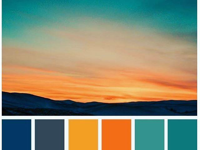 Sunset Color Palette Sunset Color Palette Orange Color Schemes