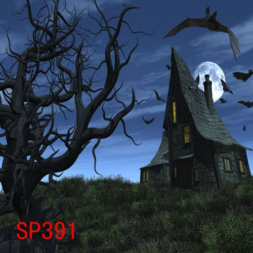 Halloween 10x10 ft cp (computer printed) photo scenic background - halloween backdrop