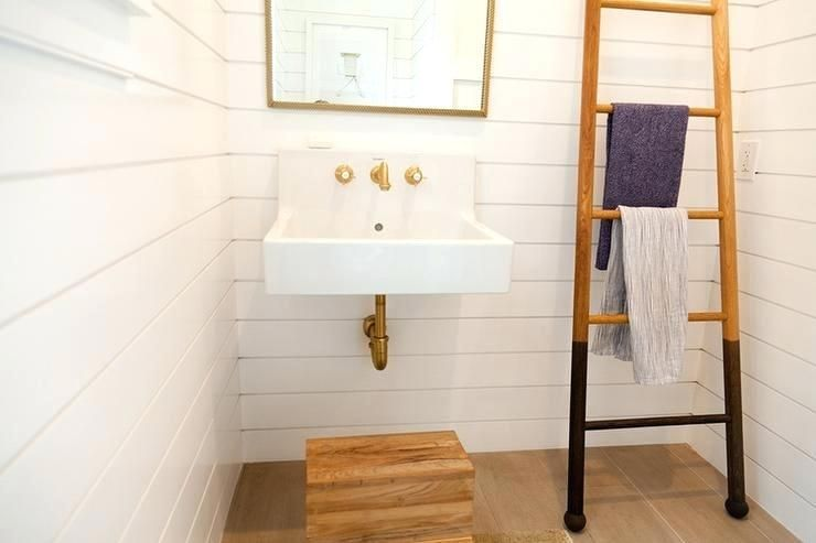View Full Size Narrow Wall Mount Sink Utility Shiplap Bathroom Wall Powder Room White Shiplap
