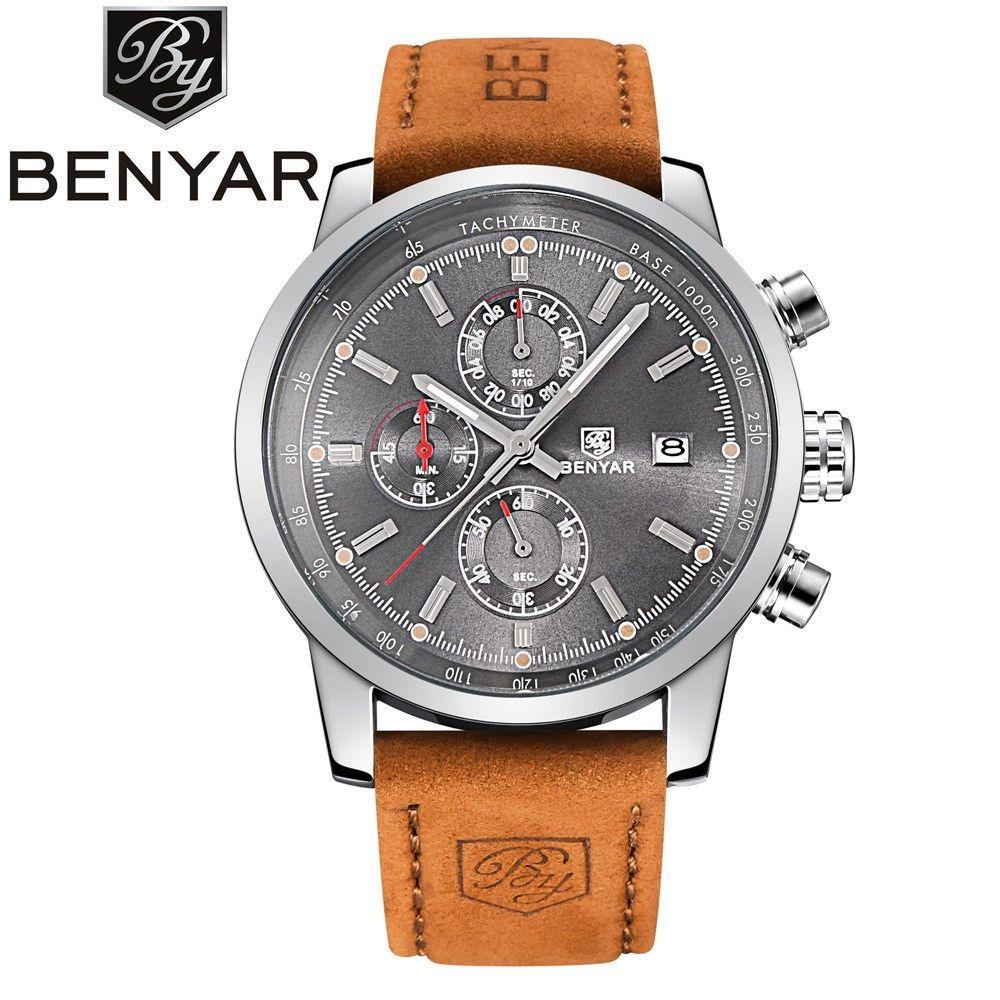 499526234ff Luxury Brand BENYAR Sport Watch Dive 30m Military Watches Multifunction  Quartz