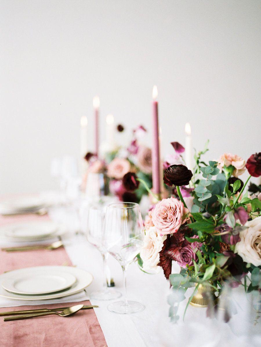 Our Latest Wedding Color Crush: Mauve   Rose wedding, Wedding tables ...