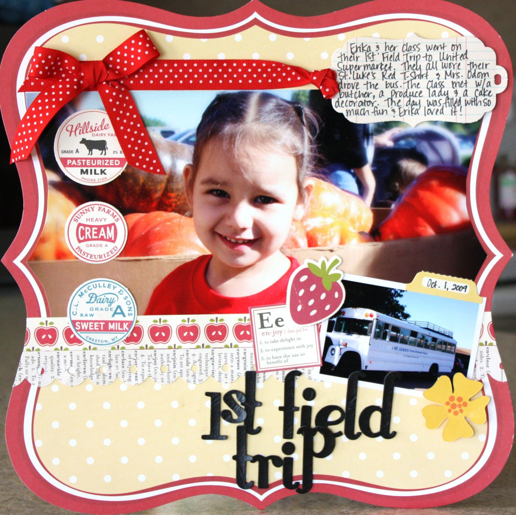 Scrapbook ideas school - A Lo Of My Daughter S Field Trip July Creative Kit From My Creative Scrapbook