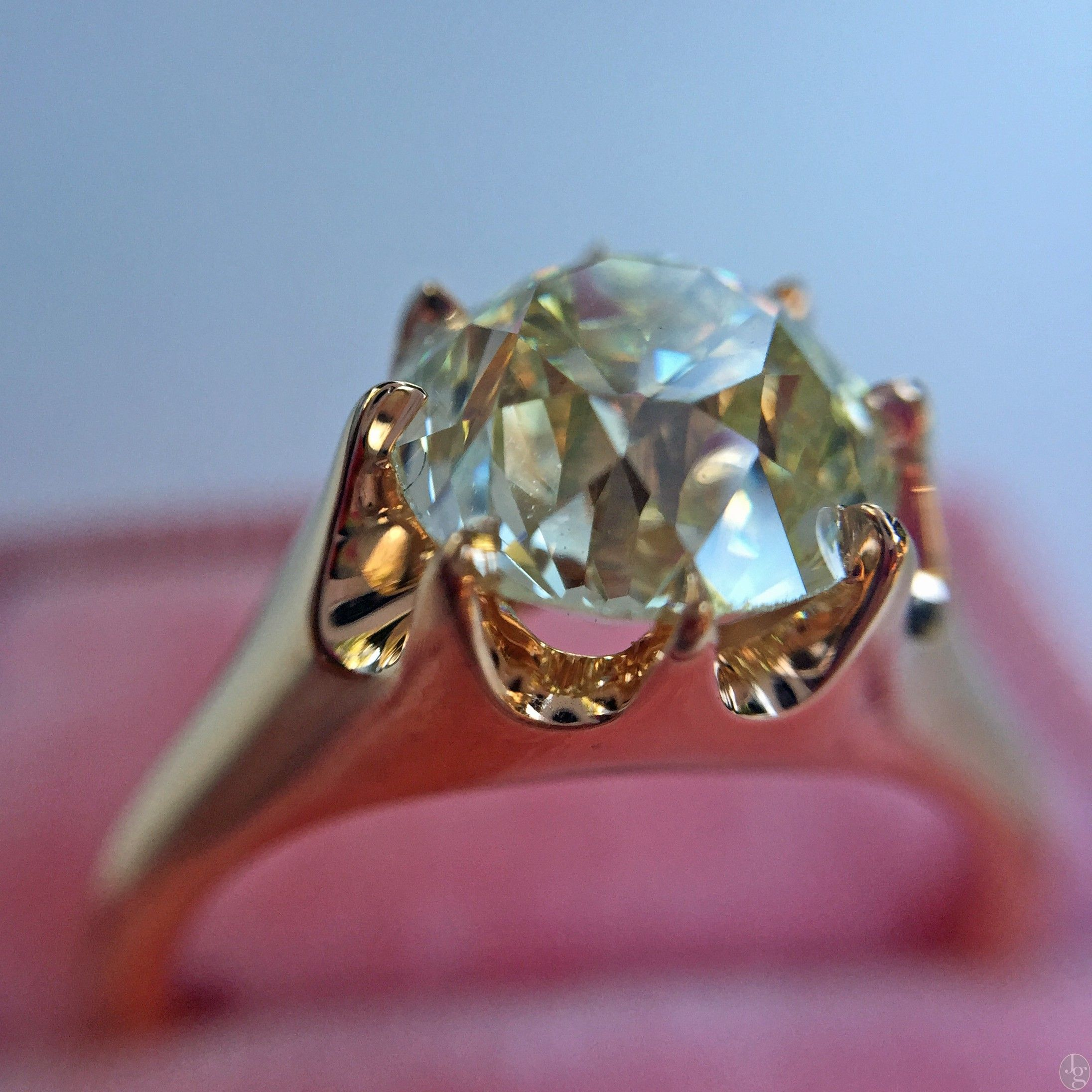 products gold ring century mine carat diamond cut antique engagement with old victorian rings rose