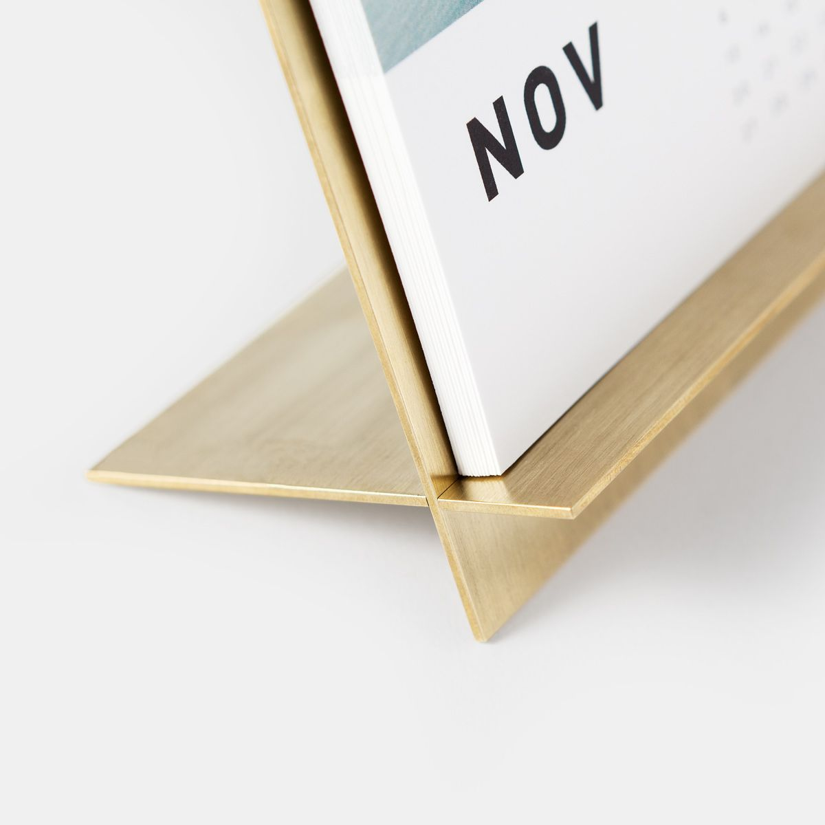 Calendar Wood Stand : Brass easel calendar unique desks design and