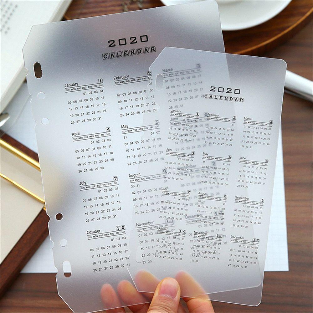 1pc Sticky Schedule 6 Holes Binder Dairy Divider Sticker Notes Planner