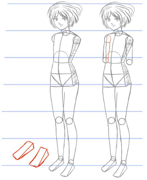 How To Draw Manga Bodies In Three Quarter 3 4 View Manga Tuts Wie Zeichnet Man Manga