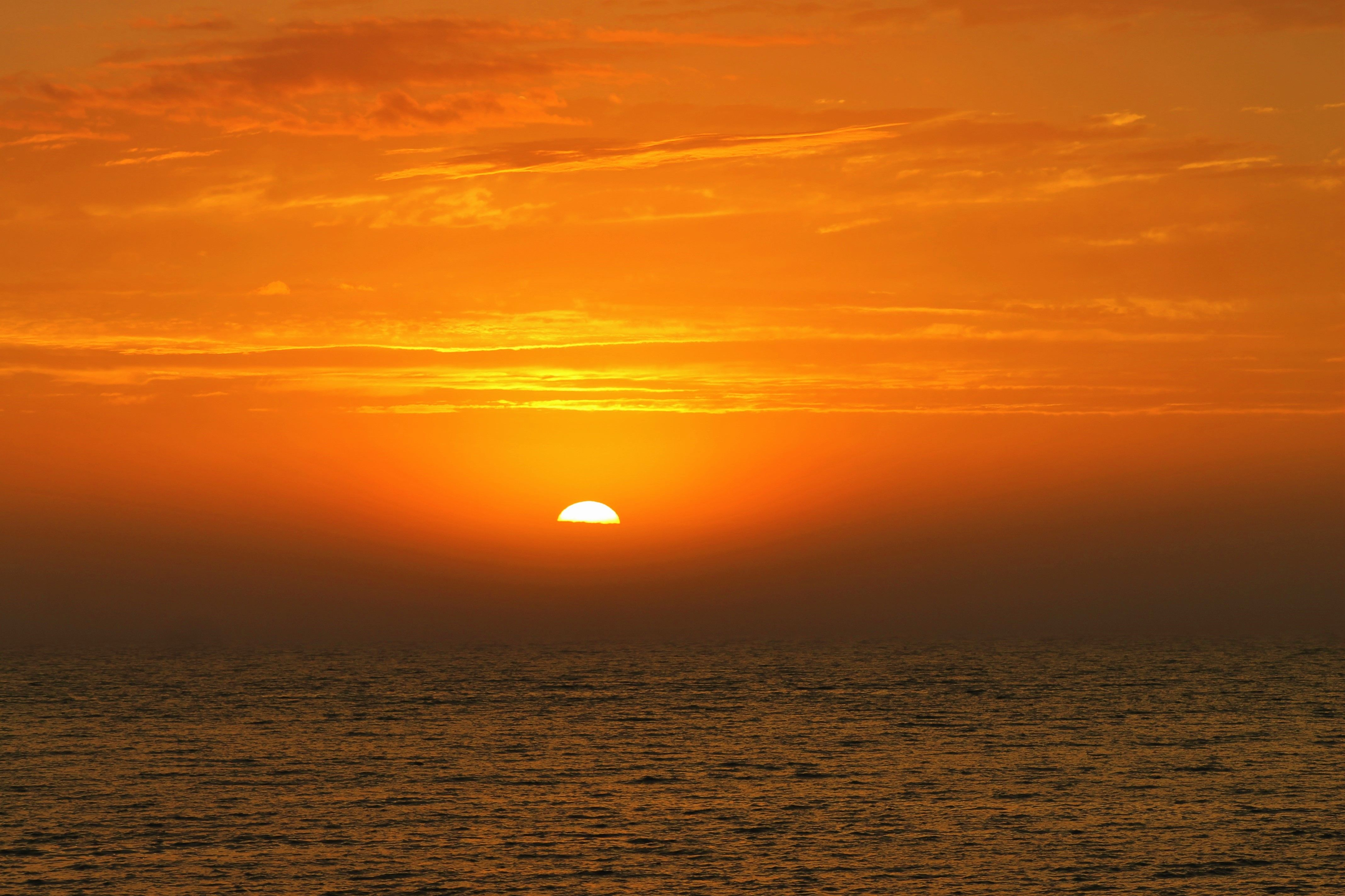 Beautiful sunset in Dalhousie, New Brunswick where ocean meets mountains