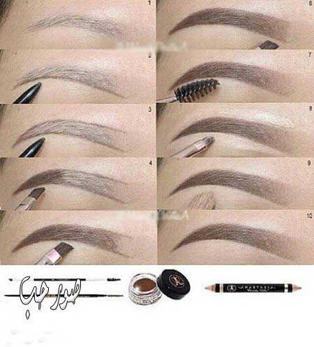 اسهل طريقة رسم الحواجب خطوة بخطوة بالصور 2017 منتديات ودي شبكة عصرية متكاملة Eyebrow Makeup Eyebrow Makeup Tips Ombre Eyebrows