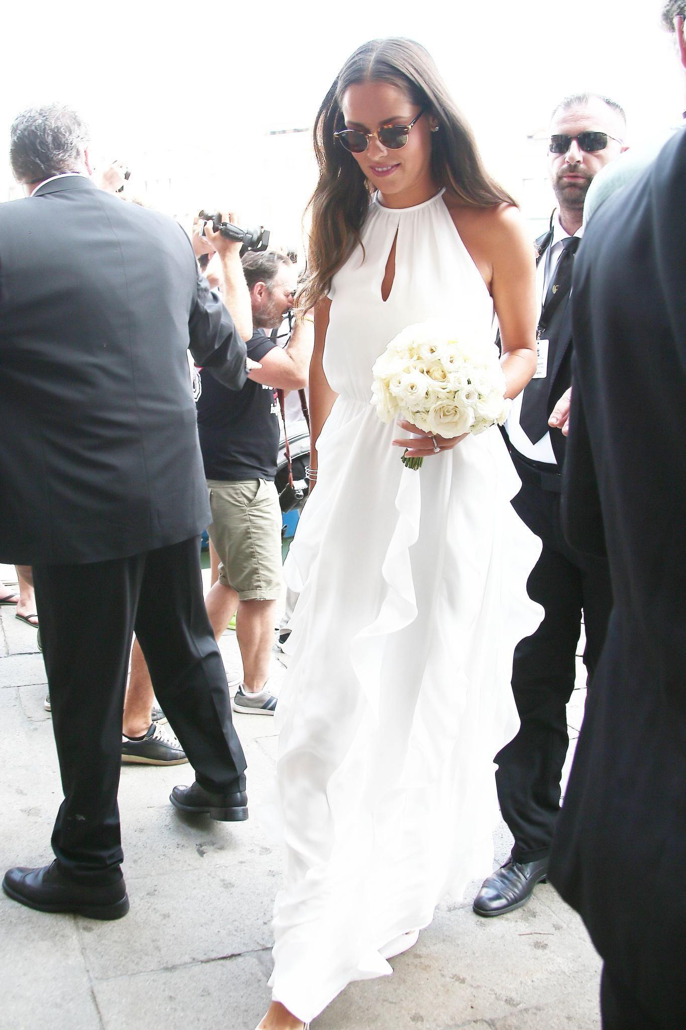 Umwerfend: Tennisstar Ana Ivanovic in einem elganten Brautkleid