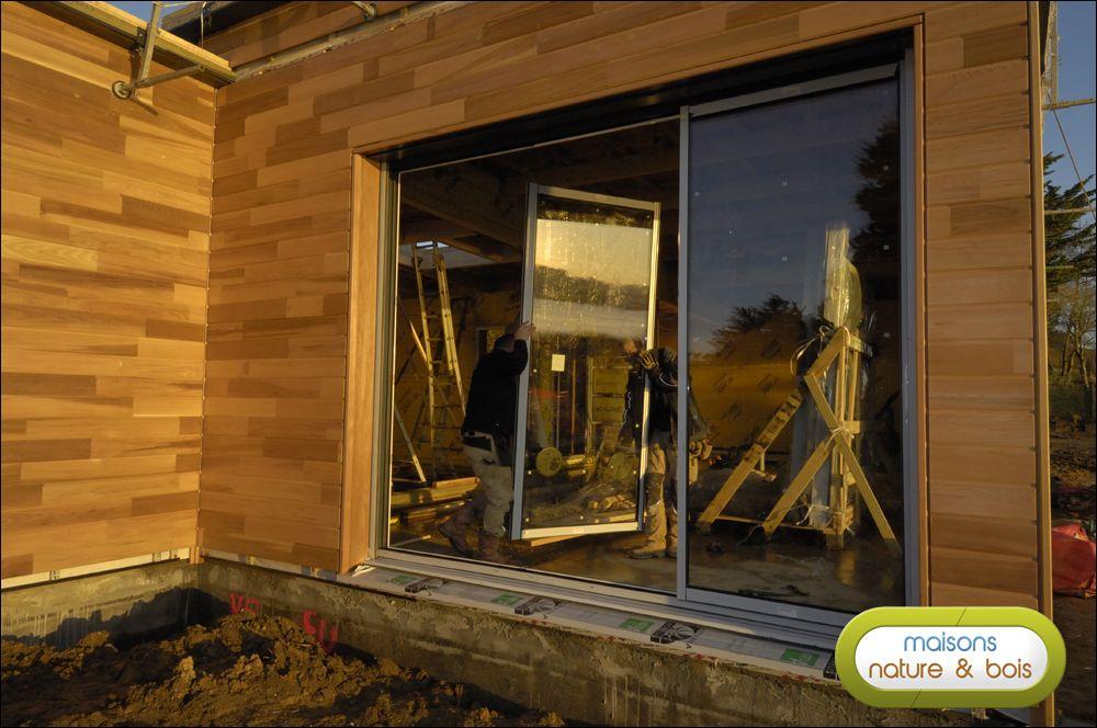 Jour 4 reportage maison bois pinterest construction bois maison ossature bois et maison bois for Construction bois 93