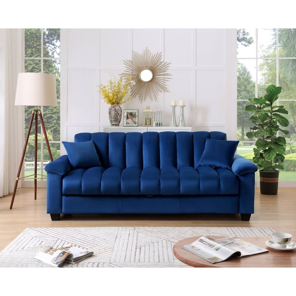 Comfortable Velvet Storage Sleeper Convertible Sofa Bed In 2020 Sofa Bed Sofa Extra Bed