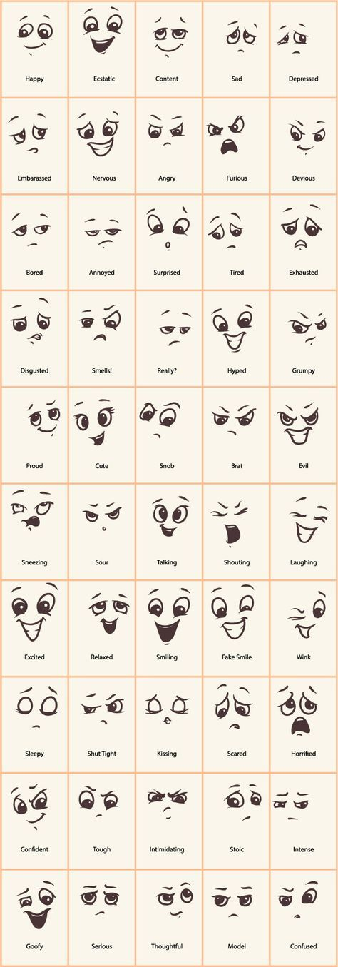 New Funny Pins  Hand drawn funny expressions vector icons 3