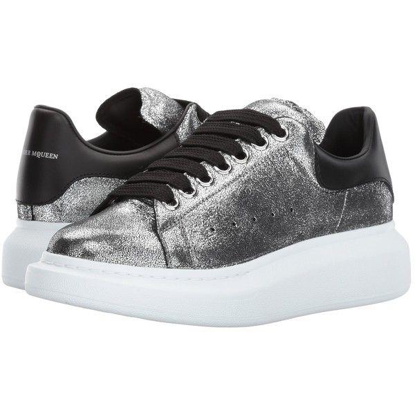 Alexander McQueen Sneaker Pelle S.Gomma (Silver/Black) Women's Lace up.
