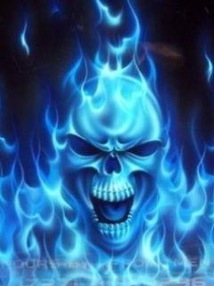 Blue Fire Hd Wallpapers Skull Pictures Skull Wallpaper Blue Skulls