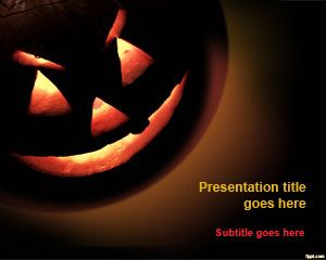 free halloween pumpkin powerpoint template is an awesome halloween template and slide design for presentations with a pumpkin picture in the background