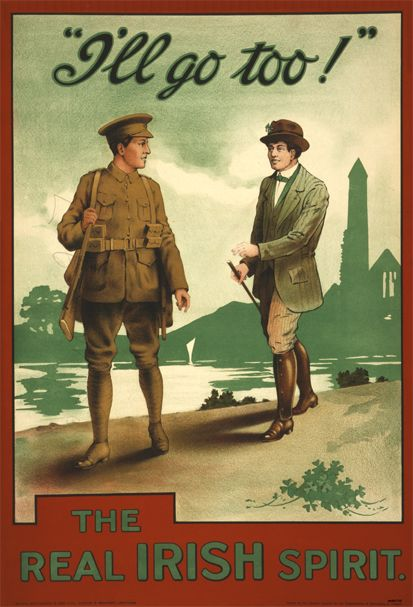 1916 Irish Recruitment postcard to publicise the appeal to enlist for WW1. John Redmond was the leader of the Irish national Party. The Collectors' Shop Blackrock, Co Dublin #postcards #vintage #antique